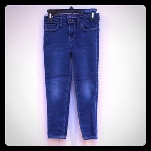 Levi's Dark Blue Denim Girls Leggings, Size 6 Reg